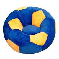 Кресло детское Мяч маленькое сине-желтое