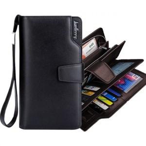 56303866191f Мужской клатч кошелек портмоне Baellerry Business Black - Интернет-магазин