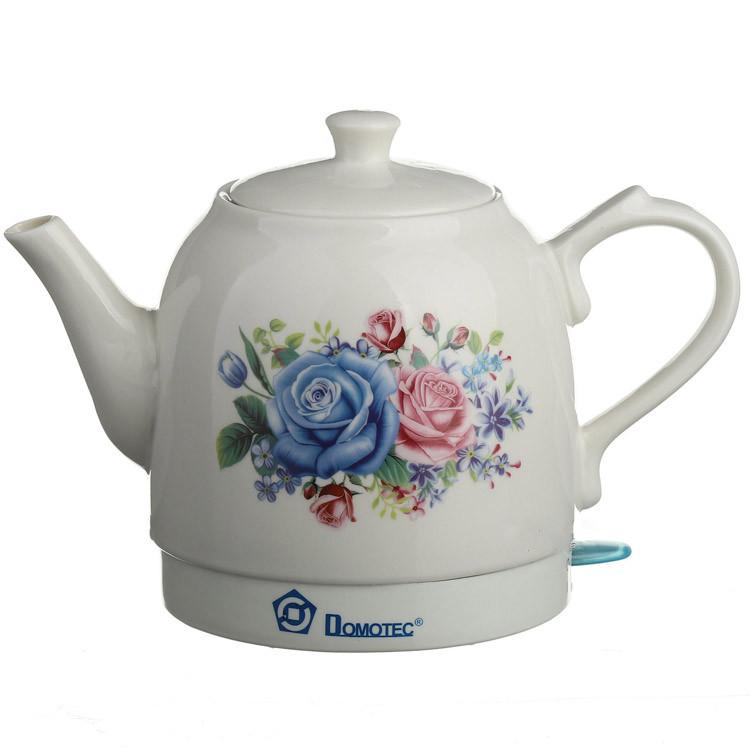 Керамический электрочайник Domotec MS-5052 1.5 л чайник электрический керамика Домотек ms 5052 из керамики