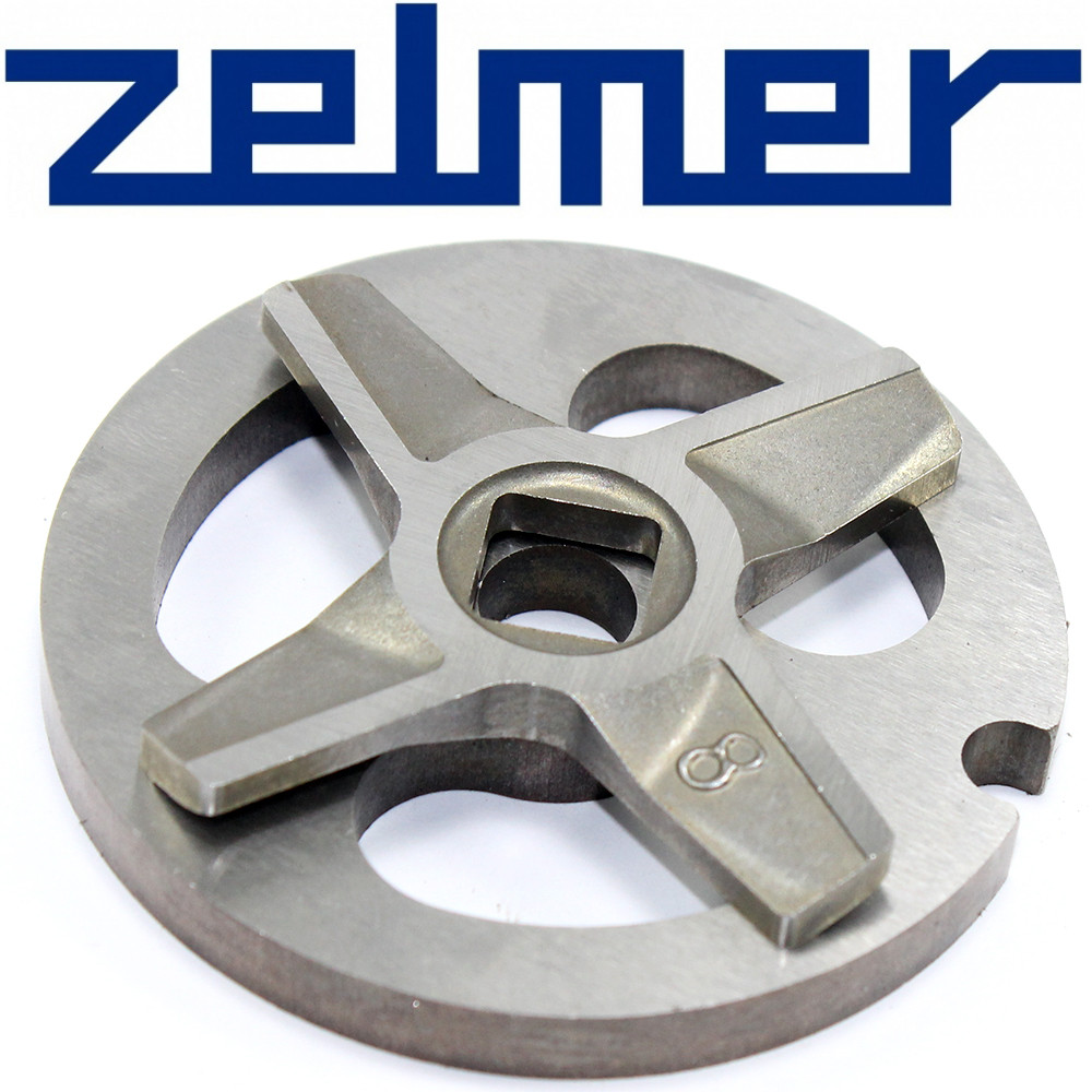 Нож для мясорубки Zelmer №8 (двухсторонний) и решетка