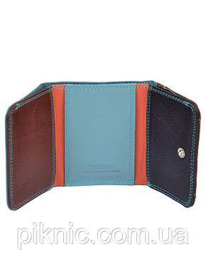 Женский компактный кожаный кошелек Dr.Bond. Из натуральной кожи. Синий, фото 2