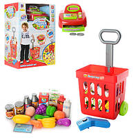 Игровой набор Магазин, кассовый аппарат, тележка с продуктами, 661-84