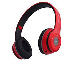 Наушники беспроводные с Bluetooth B460 красного цвета