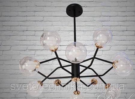 """Светодиодная потолочная люстра в стиле Лофт """"Молекула"""" на 8 плафонов"""