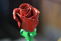 Красная роза ручной работы
