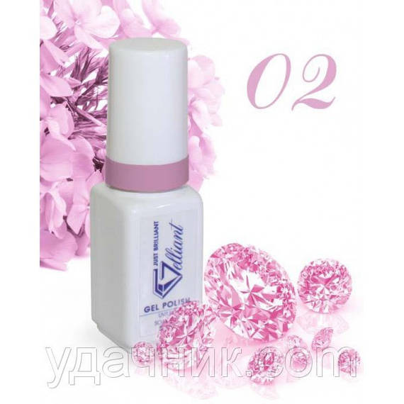 Гель-Лак №002 Bold Lilac (насыщенный сиреневый) UV/LED Gelliant 5 мл.