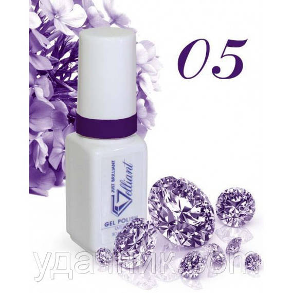Гель-Лак №005 Pure Purple (фиолетовый) UV/LED Gelliant 5 мл.