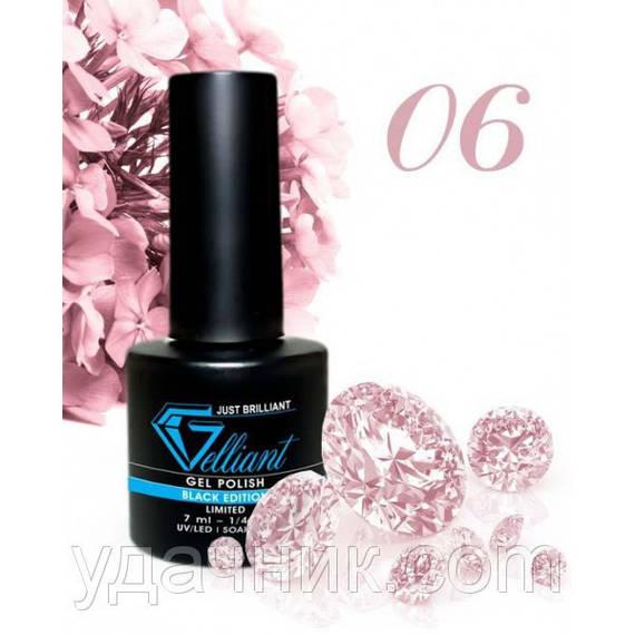 Гель-Лак №006 Deep Pink (темно-розовый) UV/LED Gelliant 7 мл.