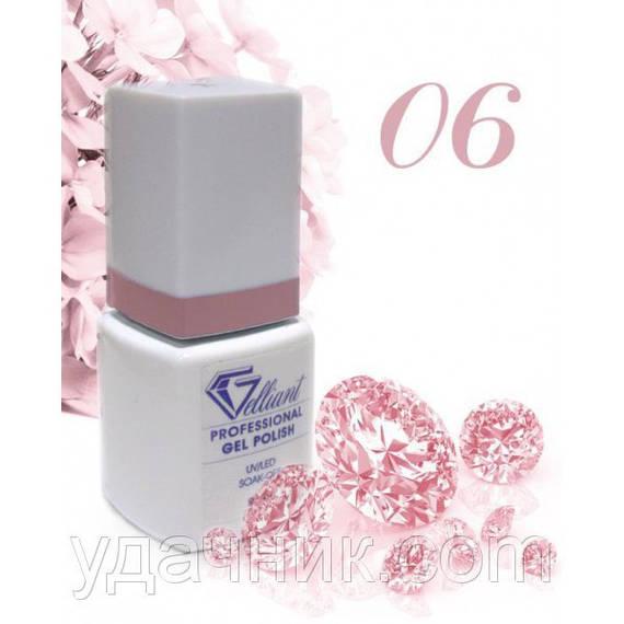 Гель-Лак №006 Deep Pink (темно-розовый) UV/LED Gelliant 9 мл.