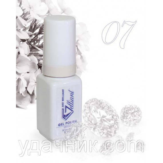 Гель-Лак №007 White (белый) UV/LED Gelliant 5 мл.