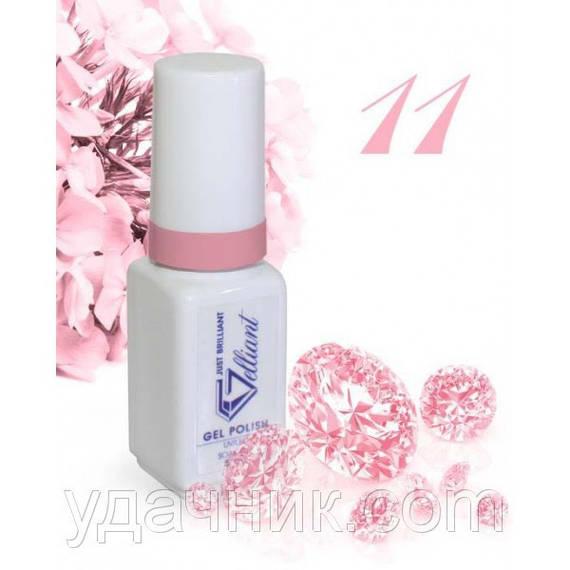 Гель-Лак №011 Pink Cream (кремово-розовый) UV/LED Gelliant 5 мл.