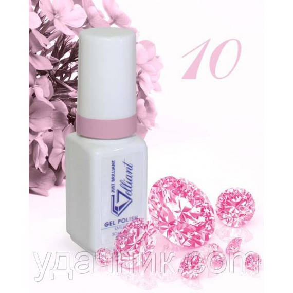 Гель-Лак №010 Rose (розовый) UV/LED Gelliant 5 мл.