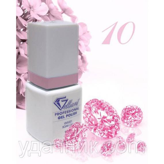 Гель-Лак №010 Rose (розовый) UV/LED Gelliant 9 мл.
