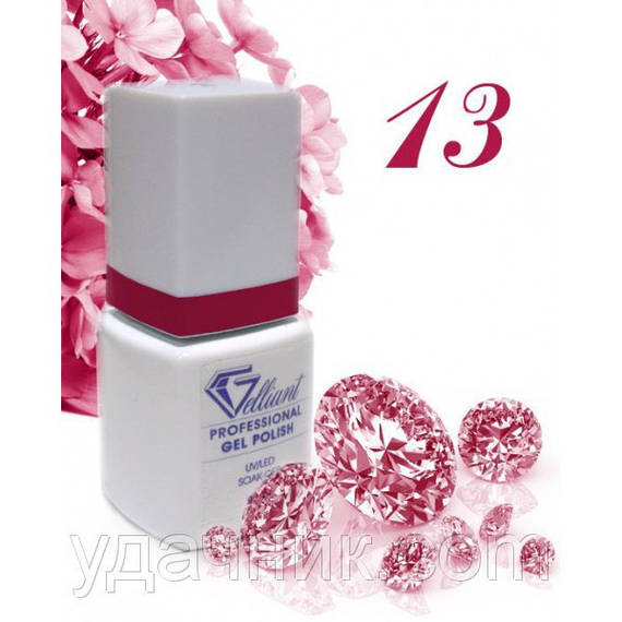 Гель-Лак №013 Dark Cherry (темно-вишневый) UV/LED Gelliant 9 мл.