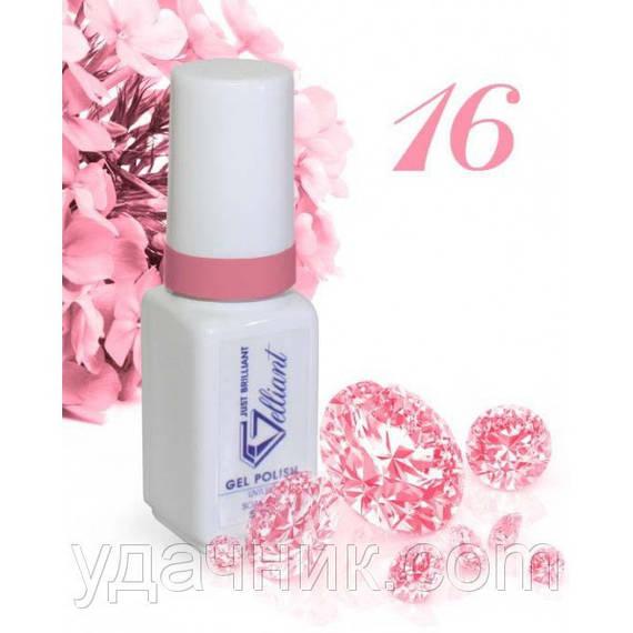 Гель-Лак №016 Neon Pink (неоновый темно-розовый) UV/LED Gelliant 5 мл.