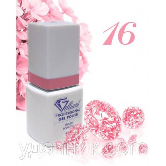 Гель-Лак №016 Neon Pink (неоновый темно-розовый) UV/LED Gelliant 9 мл.