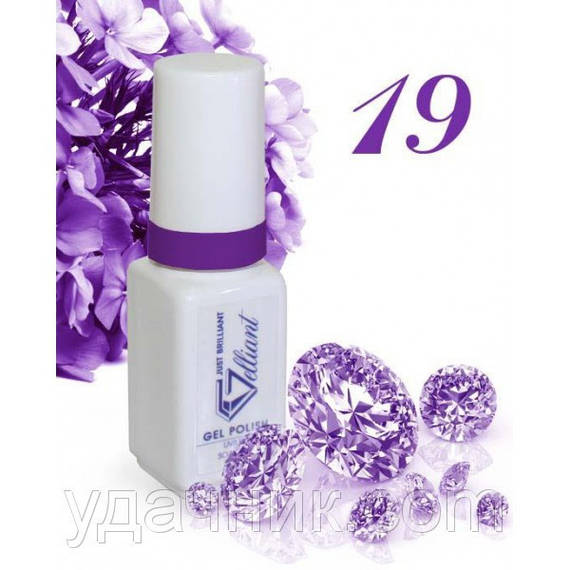Гель-Лак №019 Lilac (блестящий сиреневый) UV/LED Gelliant 5 мл.