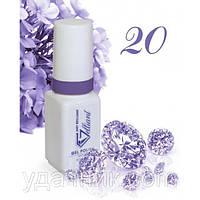 Гель-Лак №020 Super Purple (супер фиолетовый) UV/LED Gelliant 5 мл.
