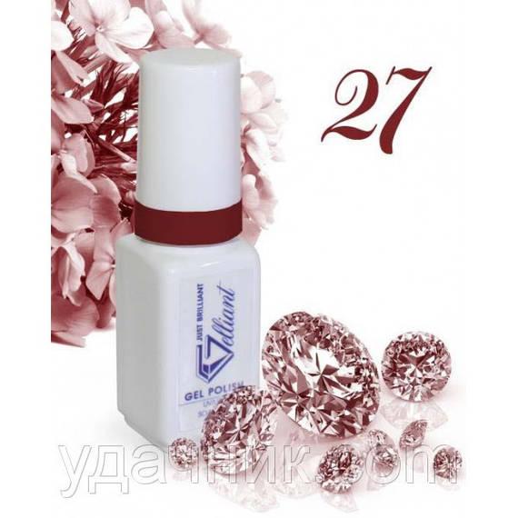 Гель-Лак №027 Claret Shimmer (бордовое сияние) UV/LED Gelliant 5 мл.