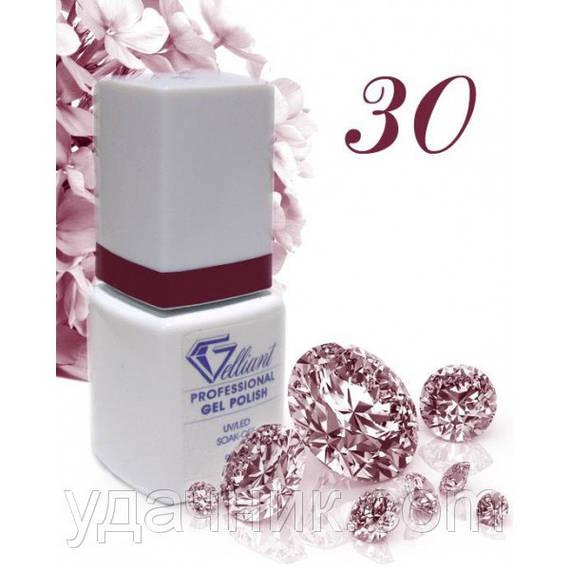 Гель-Лак №030 Deep Cherry (глубокий вишневый) UV/LED Gelliant 9 мл.