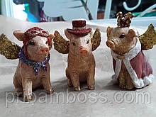 Декоративная статуэтка Модная свинка в короне