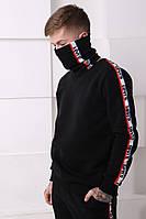 Мужской спортивный костюм Levis черный с полосками Отличного качества Реплика