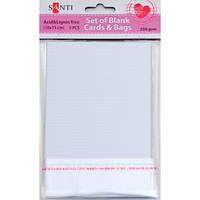 Набор белых заготовок для открыток SANTI 952226