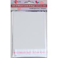 Набор белых заготовок для открыток SANTI 952240