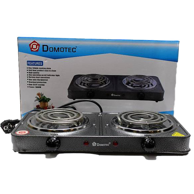 Электроплита Domotec MS-5802 электрическая настольная двухконфорочная плита спиральная Домотек ms 5802