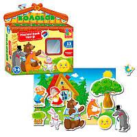 Игра настольная Vladi Toys Магнитный театр Колобок (укр) (VT3206-26)