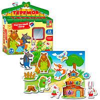 Игра настольная Vladi Toys Магнитный театр Теремок (укр) (VT3206-25)