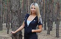 """Спортивная кофта (мастерка)  женская Adidas """"Триколор"""" с коротким рукавом"""