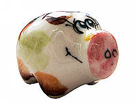 Статуэтка свинка Бульдозер цветная - символ 2019 года