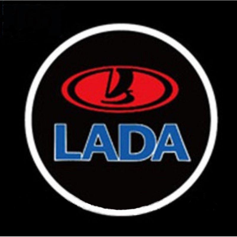 Дверной логотип LED LOGO 100 LADA подсветка дверей (2 логотипа)