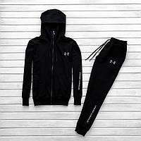 Мужской спортивный костюм черный в стиле Ander Armour зимний, фото 1