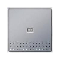 """Кнопочный выключатель вертикальный переключатель с контрольным окном Gira TX_44 (WG UP) алюминий """"Gira 01206"""""""
