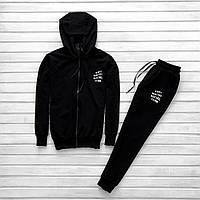 Мужской спортивный костюм черный Anti Social Clab Отличного качества Реплика a6bb78d529a