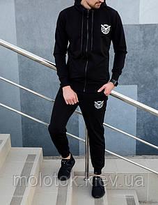 Мужской спортивный костюм черный Отличного качества Реплика