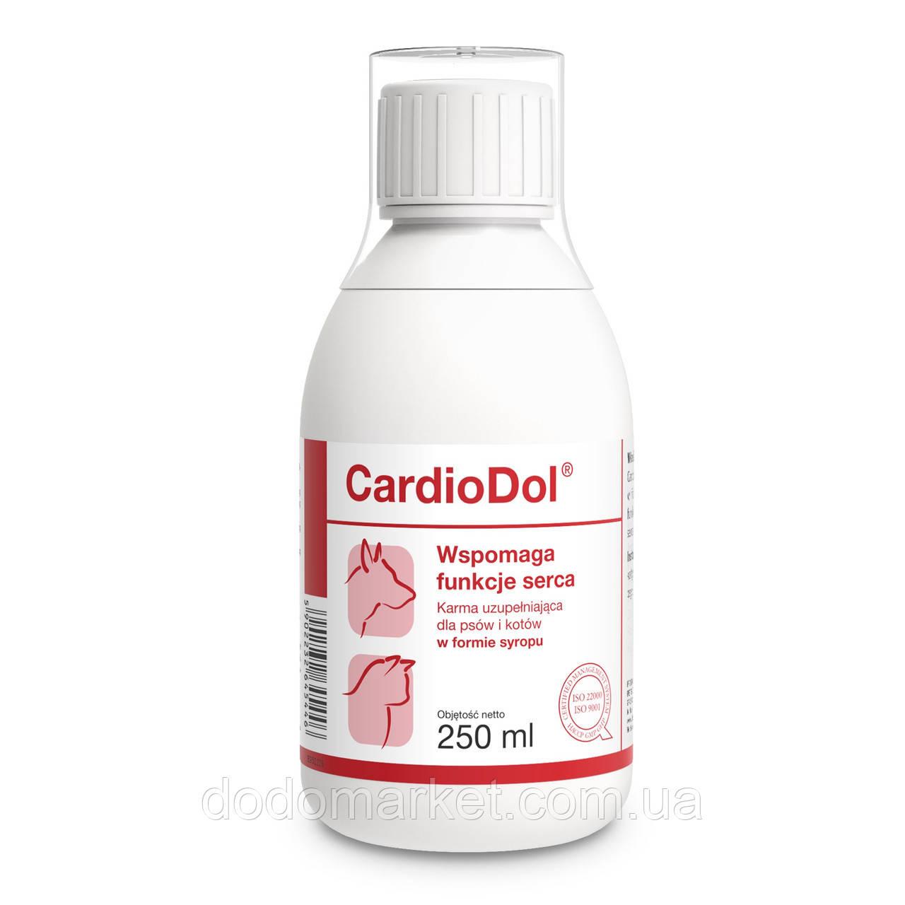 Сироп для поддержания работы сердца у кошек и собак Dolfos CardioDol 250 мл