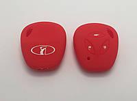 Силиконовый чехол на ключ Kalina Priora красный
