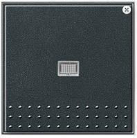 Кнопочный выключатель вертикальным переключателем с контрольным окном Gira TX_44 (WG UP) антрацит