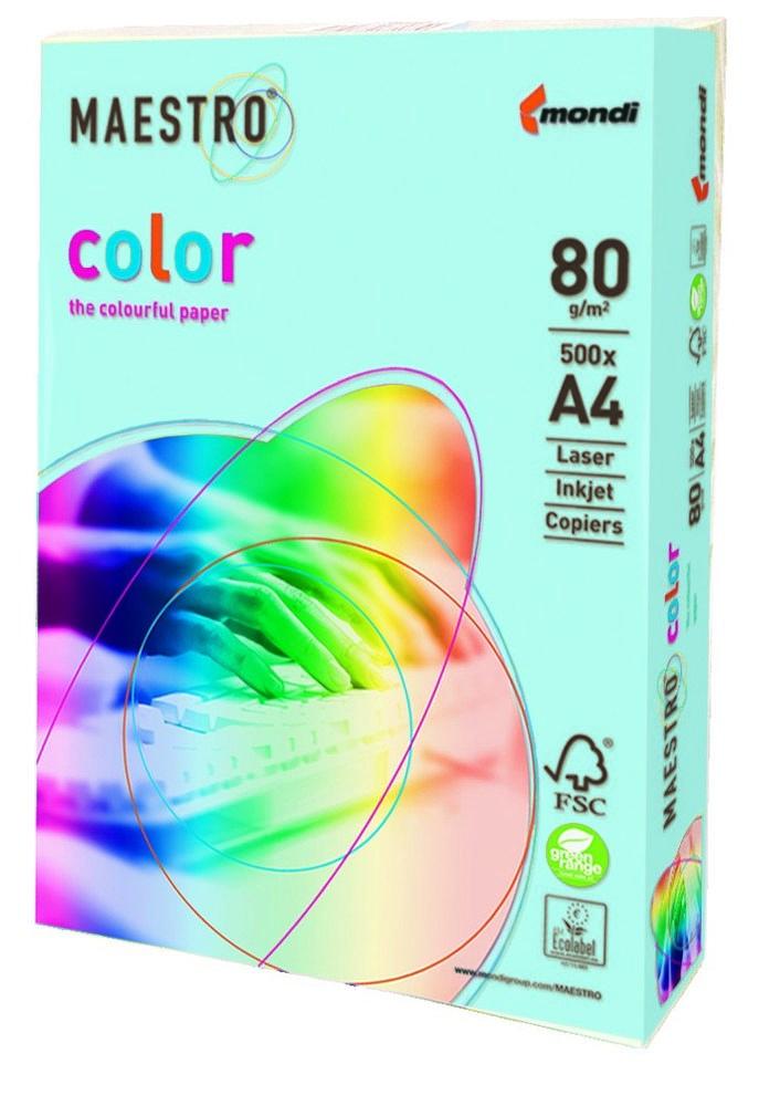 Папір А4 Maestro Color OBL70 блакитний