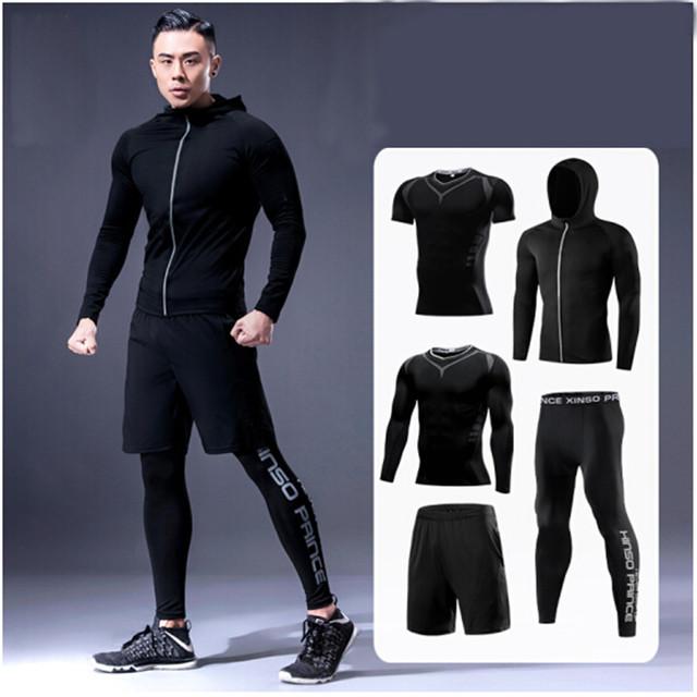 c211286a2530 Описание Мужской спортивный костюм размер М фирмы EL Sports комплект 5 в 1  EL Sports