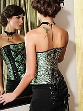 Корсет в винтажном стиле с заклепками и цепочками, фото 2