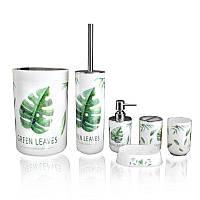 Набор аксессуаров для ванной комнаты Bathlux Green Leaves 71045 - 132670
