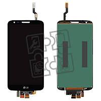 Дисплейный модуль (экран и сенсор) для LG G2 D800, D801, D803, 34 pin, черный, оригинал