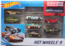 Наборы машинок Hot Wheels 9 шт