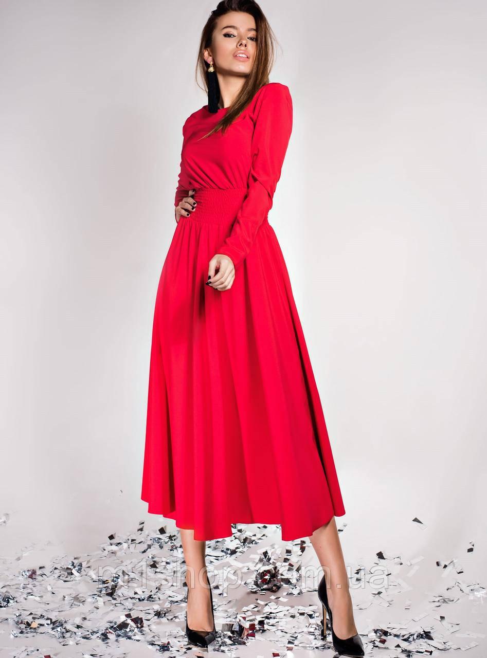 Женское расклешенное платье со сборкой на талии (Ариэль jd)