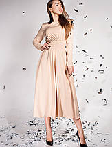 Женское расклешенное платье со сборкой на талии (Ариэль jd), фото 3