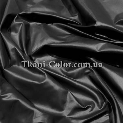 Плащевая ткань лаке черная, фото 2